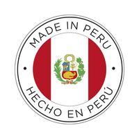 Feita no ícone da bandeira do Peru. vetor