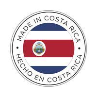 Feita no ícone da bandeira da Costa Rica. vetor