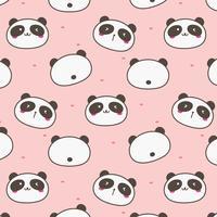 Panda bonito vetor de fundo. Doodle divertido. Ilustração vetorial artesanal.