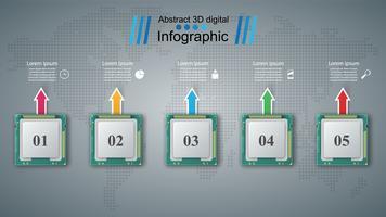 Chip de computador. Infográfico de negócios. vetor