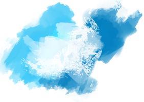 Aquarela abstrata pintado fundo vetor