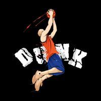 basquete afundanço vetor