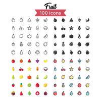 conjunto de ícones de frutas vector
