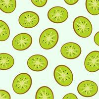 Padrão de fatias de kiwi. vetor