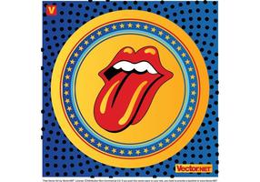 Rolando pedras labios logotipo vetor