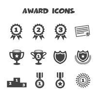 símbolo de ícones de prêmio vetor