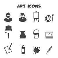 símbolo de ícones de arte vetor