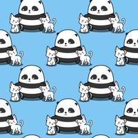 Panda sem emenda adora gatos padrão.