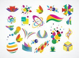Elementos de design do logotipo vetor