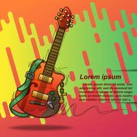Festival de música em estilo cartoon. vetor