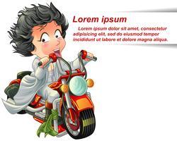 Personagem de piloto em estilo cartoon.