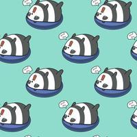 Panda sem emenda no padrão lifebuoy.