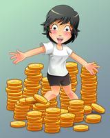 Conceito de riqueza em estilo cartoon. vetor