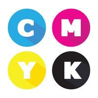 símbolo do conceito de cmyk vetor