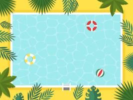 Summer Holiday, Top view Vetor de piscina