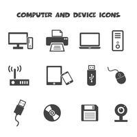 ícones de computador e dispositivo vetor