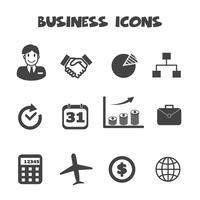 símbolo de ícones de negócios vetor