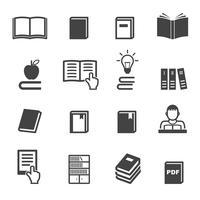 símbolo de ícones do livro vetor