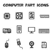 ícones de parte do computador