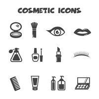 símbolo de ícones cosméticos vetor