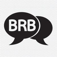 ilustração de bolha de bate-papo de internet sigla vetor