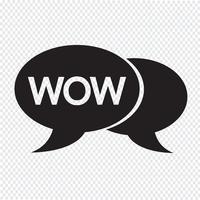 WOW internet sigla ilustração de bolha de bate-papo vetor