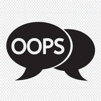 OOPS internet acrônimo bate-papo ilustração de bolha vetor