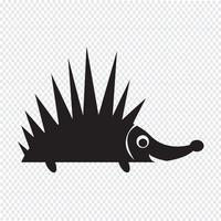 Sinal de símbolo de ícone de ouriço vetor