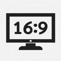 tv icon design Ilustração