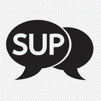 Ilustração da bolha do bate-papo do acrônimo do Internet do SUP vetor