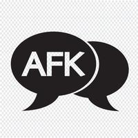 Ilustração de bolha de bate-papo do AFK internet sigla vetor