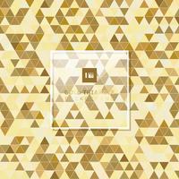 Estilo geométrico dourado abstrato do luxo do fundo do teste padrão do triângulo.