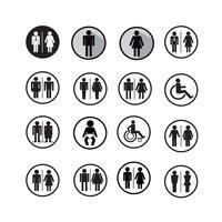 Ilustração de ícones de pessoas de silhueta