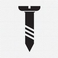 parafuso ícone símbolo Ilustração vetor