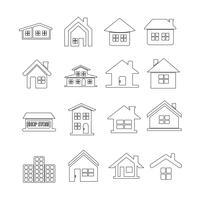 Casa ícone imobiliário conjunto para o site vetor