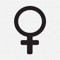 ilustração de ícone de sinal feminino vetor