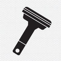 Sinal de símbolo de ícone de aparelhos de barbear vetor