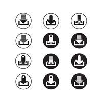 conjunto de ícones de sinal de seta vetor