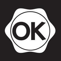 Sinal de símbolo de botão OK vetor