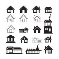 Conjunto de ícones de imóveis vetor