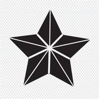 Estrela, símbolo, sinal símbolo vetor