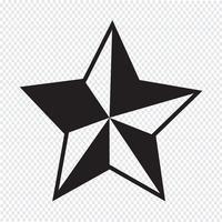 Sinal de símbolo de ícone de estrela vetor