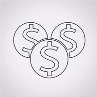 Dinheiro, símbolo, sinal símbolo