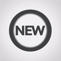 Novo sinal de símbolo de ícone vetor