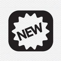 Novo ícone símbolo sinal