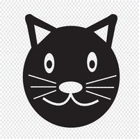 Gato, ícone, símbolo, sinal vetor