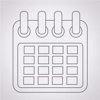 Sinal de símbolo de ícone de calendário