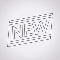 Novo sinal de símbolo de ícone