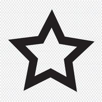 ícone de estrela sinal de símbolo vetor