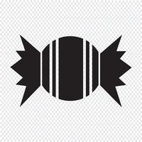 sinal de símbolo de ícone de doces vetor